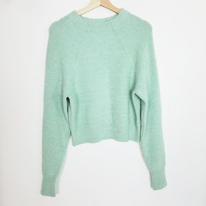 Free People Too Good  Pullover Mint Green Small